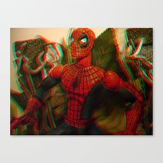 Spider-Man [In Anaglyph 3D] Canvas Print