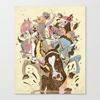 The Great Horse Race! Canvas Print