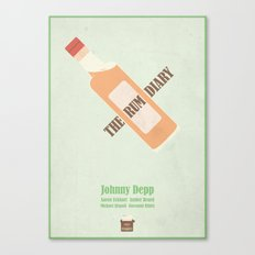 The Rum Diary - minimal poster Canvas Print