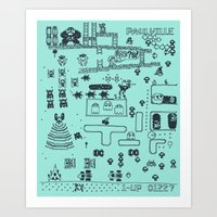 Retro Arcade Mash Up Art Print