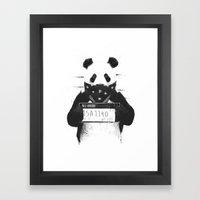 Bad Panda Framed Art Print