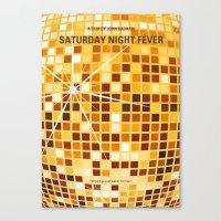 No074 My saturday night fever minimal movie poster Canvas Print