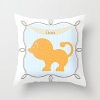 Fun at the Zoo: Lion Throw Pillow