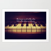 Mozart Music Art Print