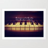 Mozart Music Art Print