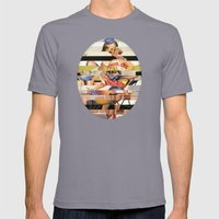 Glitch Pin-Up Redux: Gwen Mens Fitted Tee Slate SMALL