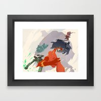 League of Leagues.  Framed Art Print