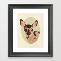 Oh Deer, Oh Dear! Paint-… Framed Art Print
