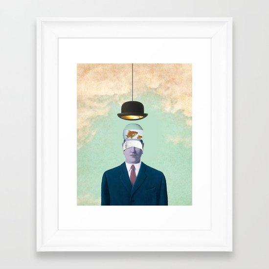 Under the Bowler Framed Art Print
