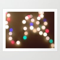 Christmas Lights Are The… Art Print