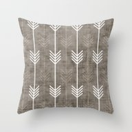 Throw Pillow featuring Dirty Arrows by Holli Zollinger