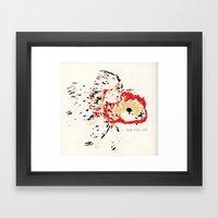 Gold Fish 4 Framed Art Print