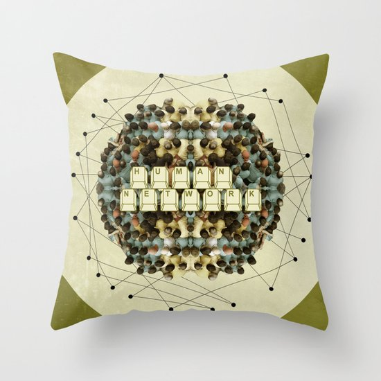 Human Network Throw Pillow