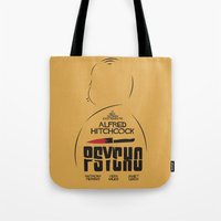 Psycho - Alfred Hitchcock Movie Poster Tote Bag