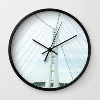 new bay bridge  Wall Clock