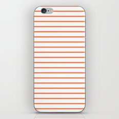Horizontal Lines (Coral/White) iPhone & iPod Skin
