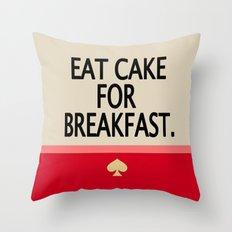 Kate Spade Inspired Eat Cake For Breakfast Throw Pillow