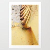 Yellow Push Art Print