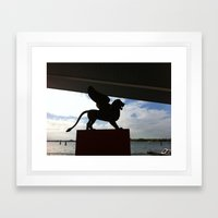 The Lion can fly Framed Art Print