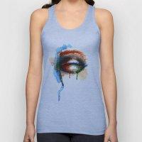 Watercolor Eye Unisex Tank Top