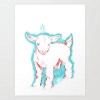 Goatesque Art Print