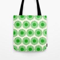 Vintage Flower_Green Tote Bag