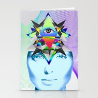 Psychedelic Woman Stationery Cards