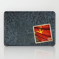 Sticker of Soviet Union (1922-1991) flag iPad Case