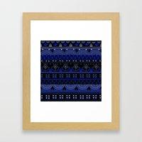 Boho Geometric Pattern Var. 7 Framed Art Print