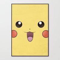 Pikachu - Minimal Pokemo… Canvas Print