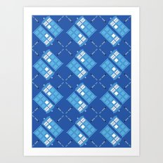 Gallifrey Argyle Art Print