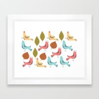 Birds Quater Framed Art Print
