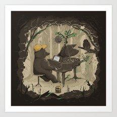 Forestal Sounds Art Print