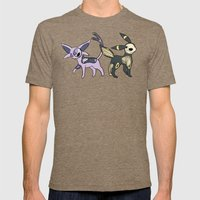 Espeon & Umbreon Anatomy Mens Fitted Tee Tri-Coffee SMALL