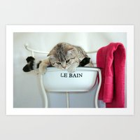 Bathtime... Art Print