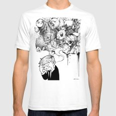 A Heavy Heart White Mens Fitted Tee SMALL