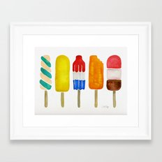 Popsicle Collection Framed Art Print