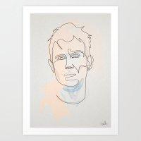 One line Damon Albarn Art Print