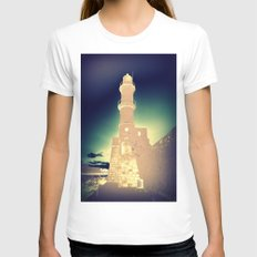 Beacon of Light Womens Fitted Tee White SMALL