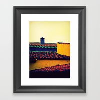 Red Tile Roof Framed Art Print