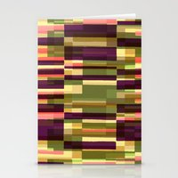 Green Blocks Photographic and Digital Pattern Stationery Cards