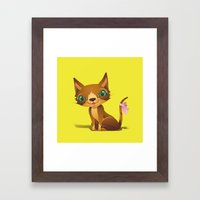 The Great Gold Meow Framed Art Print