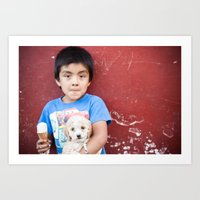 Helado y Chuchito Art Print