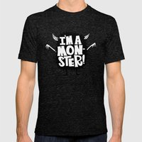 MONSTER ME Mens Fitted Tee Tri-Black SMALL