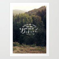 YET BELIEVES Art Print