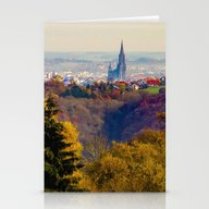 Ulm In Autumn Stationery Cards