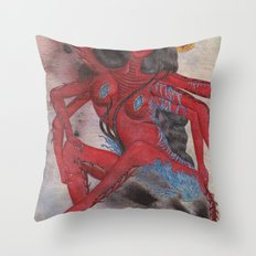 Scorpio: The Feared Revenger (Oct 23 - Nov 21) / Original Gouache On Paper Painting / Illustration Throw Pillow