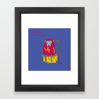 Red Monkey Year Framed Art Print