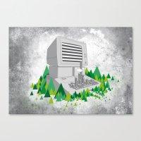 Keyboard City Canvas Print