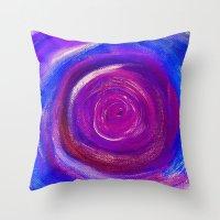 Purple Cyclone Throw Pillow